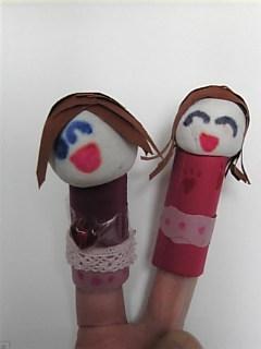 むぎの作った指人形