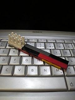 レゴで作った「歯ブラシ」