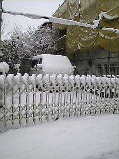 東京の我が家でも18cmくらいの積雪を記録!