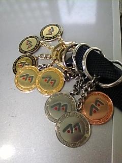 いっつんのスイミング『皆勤賞メダル』